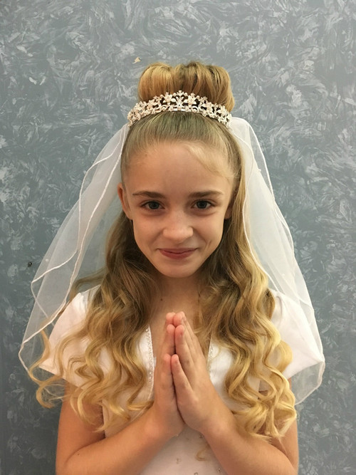Communion Tiara and attached veil