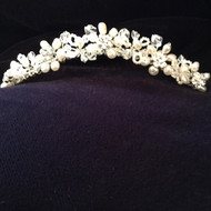 Christie Helene Comb Headpiece of pearl and crystals.  Mary Jane Tomasino is proud to announce The Christie Helene 2017 Collections of Custom Children's attire and accessories.