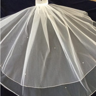 Christie Helene Communion Veil is available in white and is adorned with rhinestones.  Mary Jane Tomasino is proud to announce The Christie Helene 2017 Collections of Custom Children's attire and accessories.