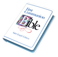 Boys Communion Bible-The St. Joseph First Communion Bible contains the complete New American Bible Old and New Testaments in easy-to-read type. Includes a full-color First Communion Certificate and Presentation Page, as well as a Prayer Section containing the Lord's Prayer, a listing of the Sacraments, the Rosary, and the Apostles' Creed. With its sewn binding and durable white cloth cover, this St. Joseph Bible from Catholic Book Publishing, specifically designed for First Communion, makes a beautiful gift edition that will be treasured and used for years to come.