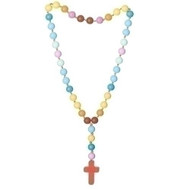 "18.5"" Long Mommy and Me Beads necklace or rosary. Beads are made of silicone."
