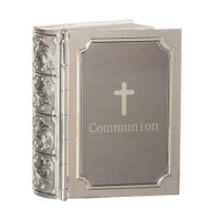 "Engravable Communion Bible Box Keepsake 3.5"" Box. Made of zinc alloy-lead free. For engraving please note Name and Date Only"
