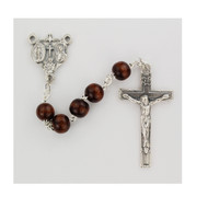 Brown  Wood Rosary  4x6MM