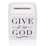Give it to God God Box. See also Give it to God Bracelet (Item #222904) and Give it to God Prayer Box (Item #222750), and Give it to God Coffee Mug (2230022), Give it to God Plaque(223155), and Give it to God Dish Towel (223172)