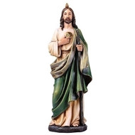 "Saint Jude 14""H Resin/Stone Mix. St. Jude is the Patron Saint of the Hopeless. The exact dimensions of the 14"" St Jude statue are: 14""H 4.75""W 3.5""D"