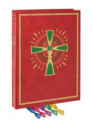 The Deluxe Genuine Leather Altar Edition is bound by master craftsmen with a beautiful high-quality leather-wrapped hard cover. The Old World hubbed spine with gold stamping adds a distinctive, classic beauty, while the luxurious gold-stamped reinforced Chevo endsheets enhance the edition's artistry. Stain under gilded pages adds opulence and provides protection from dust and humidity, while 5 satin ribbon markers lend an elegant finishing touch. Featuring large, easy-to-read type that celebrants have come to know and trust from Catholic Book Publishing, the specially produced acid-neutral cream paper ensures opacity and consistency of the highest degree, without adding unnecessary bulk and weight. Sturdy 80 lb. paper used for the Order of Mass provides extra strength to withstand everyday use.