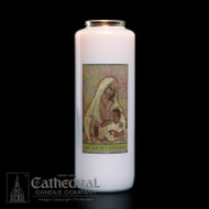 6-Day Glass Bottle Candles ~ Full color images, produced on highly durable film.   Candles can be purchased individually or as a case (12 candles)