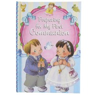 "This illustrated colorful Catholic book, filled with prayers and important teachings, will hold much meaning for young believers as they prepare to receive Jesus for the first time in Holy Communion. Place one into the cart or wish list above.  Receiving the Lord Jesus in Holy Communion is one of the most special days of a persons life! Help young Christians prepare themselves spiritually to be a worthy vessel for God to reside in.  Author: Rev Thomas J Donaghy. Book measures approx. 6"" x 8.5"". Padded Cover - 48pp"