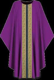 "Chasuble is made of lightweight Brugia 100% wool. Banding  in Goya, damask fabric. Measurements are 59"" Width  X 53"" Length, with inside stole. Combination of brocade application and orphreys.  These items are imported from Europe. Please supply your Institution's Federal ID # as to avoid an import tax.  Please allow 3-4 weeks for delivery if item is not in stock."