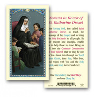St. Katherine Drexel is the patron saint of philanthropists and racial justice. This prayer card has a prayer to her and her image.