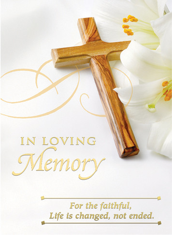 """In Loving Memory Mass Card 4 7/8"""" x 6 3/4"""" 100 per box (Gold Foil) Inside Verse: The Holy Sacrifice of the Mass will be offered for the repose of the soul of ________ Rev_______(right side) Cross (graphic) With the sympathy of _________ (left side)  Note:  For Church Use Only!"""