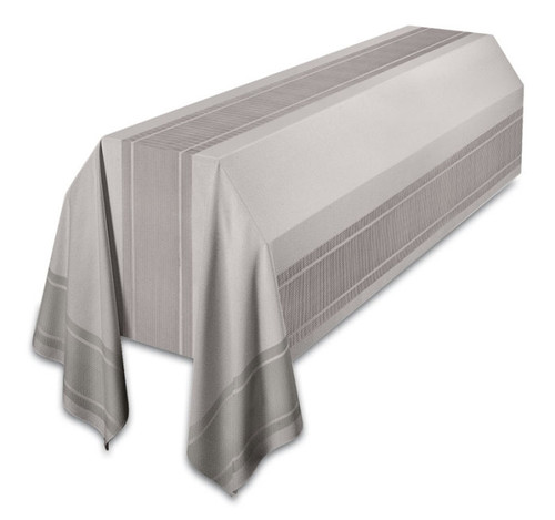 Funeral Pall is made of Agate Fabric, 100% man-made fibers  Two Sizes: 6' x 10' to cover casket only;  8' x 12' to cover casket and carriage. Finished with rounded corners to prevent soiling of pall.  These items are imported from Europe. Please supply your Institution's Federal ID # as to avoid an import tax. Please allow 3-4 weeks for delivery if item is not in stock.