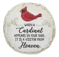 "Stepping Stone  with quote ""When a Cardinal appears in your yard, it is a visitor from Heaven."""