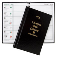 Hard cover liturgical desk calendar. Easy-to-read display of complete liturgical information and daily readings. Listings given for Catholic Holy Days and holidays. Includes two-year calendar summary.