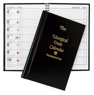 This hardcover liturgical desk calendar has an easy-to-read display of complete liturgical information and daily readings. The calendar also includes listings for Catholic, Protestant, Orthodox, Jewish, U.S., and Canadian Holy Days and holidays.