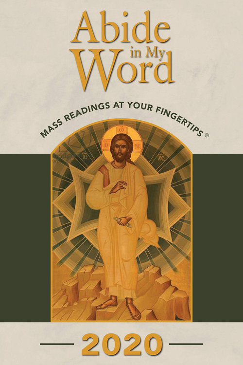 Whether used at home or in church, Abide in My Word is a useful aid for following the daily and Sunday Mass Scripture readings. The complete text for each day's readings, including the responsorial psalm, is included. Abide in My Word covers the entire calendar year of 2020 and, because the readings are arranged chronologically by date, they are easy to locate.  The Lord speaks to his people through his word, so the habit of praying with the daily Mass readings each day can provide both strength and refreshment. Abide in My Word also keeps Catholics in sync with the beautiful liturgical seasons of the Church and with the universal church throughout the world. Over the years, Abide in My Word has become a familiar and treasured tool to thousands of Catholics and many find it a handy companion to the meditations on the daily Mass readings featured in The Word Among Us magazine. Plus, there is room in the margins for brief notes to record what God has spoken to your heart.