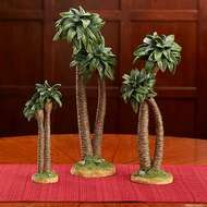 "One Palm tree to complement the Three Kings Real Life Nativity. One tree only! Three sizes to choose from. Palm trees to complement the 7"", 10"" Standard, or the 14"" Deluxe Three Kings Real Life Nativity.  Measurements: 8 1/4""H, 11 7/8""H and 14 1/4""H."