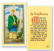 St Patrick Holy Card with an Irish Blessing.  Clear, laminated Italian holy cards with Gold Accents. Features World Famous Fratelli-Bonella Artwork. 2.5'' x 4.5''