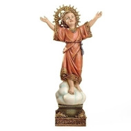 "The Divine Child Statue is made of a resin/stone Mix. The Divine Child Statue dimensions are:  8""H x 4""W x 2""D. The Divine Child Statue is from the Joseph Studio Collection."