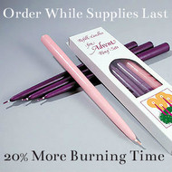 "12"" Advent Candles for your Advent Wreath.  20% more burning time. Bulk ordering available. Order while supplies last!"