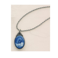 "Mother and child cameo pendant comes on an 18"" rope chain. Pendant comes boxed"