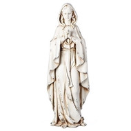 "Beautiful ""distressed look "" statue of Our Lady of Lourdes.  Our Lady of Lourdes distressed look tatue stands 23""H."