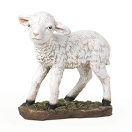 "Oversized Lamb 12""H x 10""W (39"" Scale) is made of a resin/stone mix."