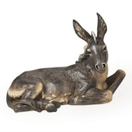 "Oversized Donkey is 19.5""H x 27""W x 15""D""H (39"" Scale).  This Nativity donkey is made of a resin/stone mix."