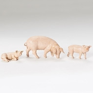 "Fontanini 5"" scale figure of a three piece Pig Family. A  new edition to the 5"" scale nativity. A great piece to add to your 5"" nativity scene!! Made of polymer"
