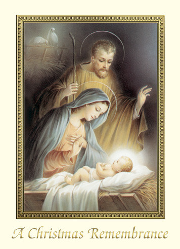 """For Priests Only!! Christmas Remembrance Cards. 4 7/8"""" x 6 3/4"""" 25 per box (Gold Foil Embossed) Inside Verse: May all the blessings of the Christ Child be yours this Christmas and may His Divine Presence enrich your life throughout the New Year.  You and your loved ones will be remembered in the Holy Sacrifice of the Mass."""
