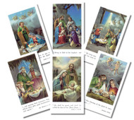 Bethlehem Series Christmas Holy Cards Size 2'' x 4'' with blank back, available in assorted pack of 100 Includes 6 different images