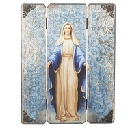 "17""H Our Lady of Grace Panel. The Lady of Grace Panel is made of medium density fiberboard"