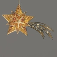 "Fontanini LED Star of Bethlehem for 5"" scale nativity.  Beautiful addition to your Fontanini 5"" Nativity set. Dimensions: 3.5"" H X 5""W X 1.5"". Made of plastic.  Batteries included."