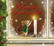 In Mouse's Christmas Gift, written by Mindy Baker and illustrated by Dow Phumiruk, one tiny church mouse must find a way to bring Christmas spirit to his little town when Parson gets sick and the usual Christmas Eve service is cancelled. Mouse never gives up hope as he prepares the nativity set and lights a small candle in the window to signal the villagers. Mouse's small act of faith sparks a chain reaction of hope and love, demonstrating that even the smallest creature can make a big difference. This adorable book, with a cover adorned with foil and glitter, captures the spirit of Christmas and the joy of doing for others during the holiday season.  That night, on Christmas Eve, a small group of villagers gathered in front of the darkened church. Mouse peered out the window and his heart began to pound. They came!