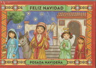 "Brilliantly colored Christmas greeting cards. Spanish Language with the English translation included on the back of the card.   Inside text reads:  ""Que la ternura y la paz de la navidad llene su corazon de amor)....   Scripture text:  Y ella dio a luz a su hiho promogenito, y lo envolvio en panales, y lo acosto en un pesebre, proque no habis lugar para ellos en la posada. -Lucas 2:7 (And she gave birth to her little son, and wrapped him in swaddling clothes, and laid him in a manger, because there was no place for them in the inn. -Lucas 2: 7)  Made in the USA 25 cards and 26 envelopes. These cards measure 5 x 7 inches size. Clear wrapped tray.... LIMITED QUANTITIES...WHILE SUPPLY LASTS"