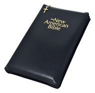 """NAB Gift Bible comes in White, Burgundy or Black imitation leather with a zipper close.  This edition of the New American Bible contains many helpful aids for easy Bible reading and study. The handy zippered case will hold treasured prayer cards. A lovely and meaningful gift.  Features: Special versions of the official Catholic translation with features for students and gift giving, Book Introductions, Chronological Listing of Christ's Miracles and Discourses, Consice and Authoritative Notes, Cross-References, Family Register and Full color Maps, Footnotes, Imprimatur, List of the Popes, Maps, Presentation Page. 1440 pages, Dimensions: 5 1/2"""" x 8 5/8"""". Gift boxed."""