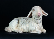 "Laying Sheep 1902/14-Fiberlgass or Lindewood Laying Sheep comes direct from world famous ""Art Studio Demetz"" in Italy. These Fiberglass or Lindenwood figures have remarkable detail and are all hand painted by our Italian artists. Each Sheep is sold SEPARATELY"