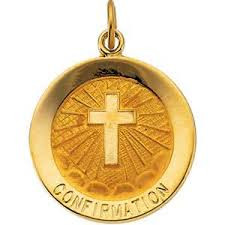 "If you are looking for a great keepsake for your child to celebrate and remember their Confirmation, this 14K gold pendant is the perfect choice. The beautiful gold pendant is intricately detailed.   This 14K gold pendant includes the words ""Confirmation"" and an image in the center.  The pendant is 1"" inches, making it the perfect size.  This gold pendant makes a perfect gift for your child's Confirmation. Add this gold pendant to your own chain or 14K gold chain sold separately Item #68-4118."