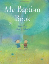 """My Baptism Book will serve as a delightful companion on the Baptism day of your precious little boy or girl. Teach them about the Baptismal promises made for them with this adorably designed My Baptism Book, by Sophie Piper.  It is a collection of prayers, psalms and bible stories that all reflect a child in faith, making it the perfect inspirational gift for a child who is being baptized. The hardcover My Baptism Book by Sophie Piper measures 5-1/2""""W x 7""""H; inches, making it the perfect size for bedtime reading and placement on a night stand. Hardcover"""