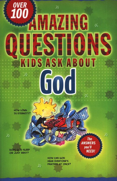 Don't be stumped by the amazing questions your kids may ask you about God. Let their curiosity be an opportunity to share with them the truths of God. In this book you'll find the answers you need along with key verses and notes to parents. Amazing Questions Kids Ask About God is divided into 11 major topics: Creation, Adam & Eve, God, Jesus, Salvation, Prayer, Heaven & Hell, Angels & Demons, Suffering & Evil, The Bible, and The Church. With Amazing Questions Kids Ask About God your child will discover the answers to over 100 questions about God, heaven, and the Bible. Questions include: Is there a McDonald's in heaven? What do angels really look like? Did Eve have a belly button? Amazing Questions Kids Ask About God paperback book is written in kid friendly language, and each book contains fun illustrations and handy verse references. This must-have reference tool is essential for every parent and religious education teacher, because sometimes we all struggle to find the answers for all the questions children may ask. Measuring 8.2 x 5.5 x 0.7 inches and 240 pages,  Amazing Questions Kids Ask About God is the ideal paperback resource for home, school and church!