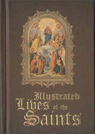 The hardcover Illustrated Lives of the Saints is compact and concise and has over 100 saints featured in it. Each saint's story has a fully color illustrated picture.  With 107 stories to read such as St. Mary, St. Luke, St. Therese, St. Elizabeth of Hungary, St Margaret Mary, and so many more, this is a great way to learn more about the Saints of the Church.