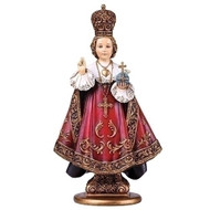 "610"" Infant of Prague Statue. Resin/Stone Mix. Dimensions: 10""H 5.5""W 3.5""D"