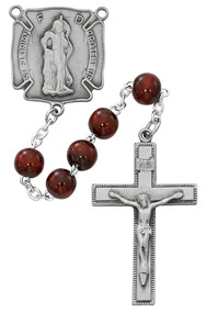 St Florian Firefighters Rosary. 8MM red beads make up this St. Florian Firefighters Rosary. Centerpiece is a pewter St Florian Medal and crucifix. Comes in  a deluxe gift box.