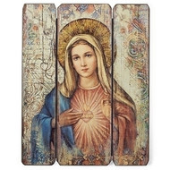 "15""H Immaculate Heart of Mary Wall Panel. Immaculate Heart of Mary Wall Panel is made of medium density fiberboard. 15""H x 11.75""W x 2.2""D"