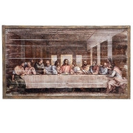 "21""H The Last Supper Panels. The Last Supper Panels are made of wood. The Last Supper Panels measure 21""H x 37.5""W x 2""D."