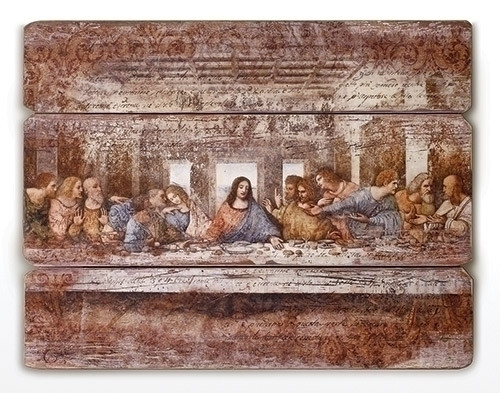 """26""""H The Last Supper Decorative Wall Panel. The Last Supper Decorative Wall Panel is made of a medium density fiberboard. The Last Supper Decorative Panel measures 26""""H x 21""""W x 2""""D."""