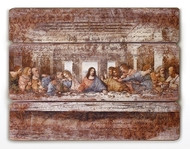 "26""H The Last Supper Decorative Wall Panel. The Last Supper Decorative Wall Panel is made of a medium density fiberboard. The Last Supper Decorative Panel measures 26""H x 21""W x 2""D."