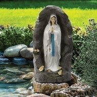"36""H  Our Lady of Lourdes Grotto.  Perfect for any tabletop! Made of a resin/stone Mix."