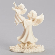 This Comfort of Heaven figure is from the Millenium Collection. The figure depicts an angel holding a child above her. The 4inH Comfort of Heaven figure comes gift boxed. The Comfort of Heaven figure is made of a resin/stone mix.