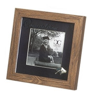 "Congratulations Graduate Picture Frame! The wood look Graduation Picture frame measures 7.25"" and holds 4"" x 4"" picture, and has Congratulations in script across the top of the frame. Made of plastic and glass"